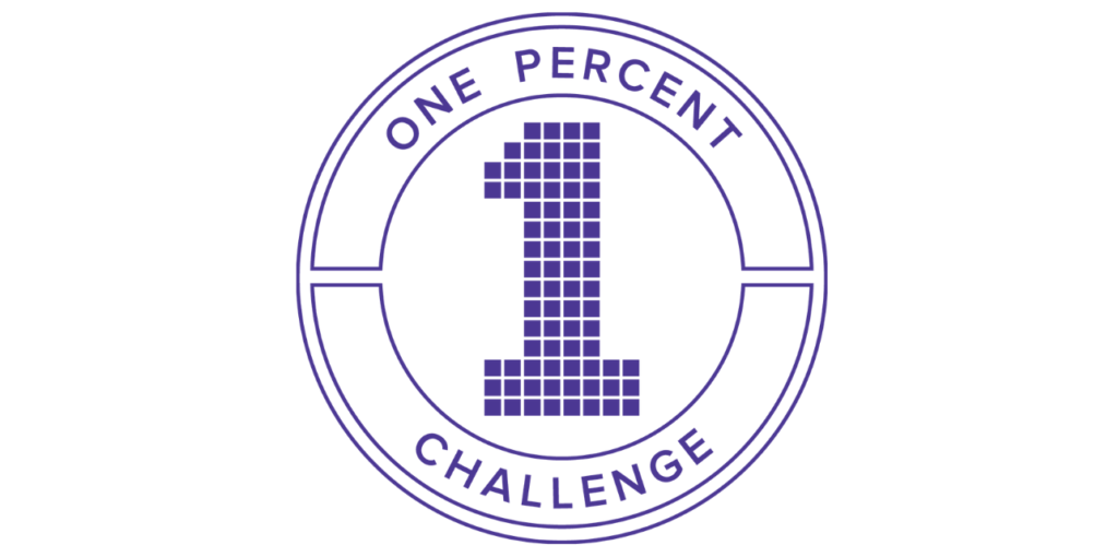 one percent challenge vibe tribes | emindful.com